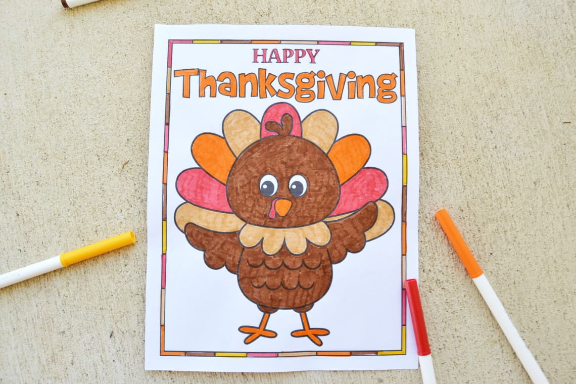 free Thanksgiving printables with turkey