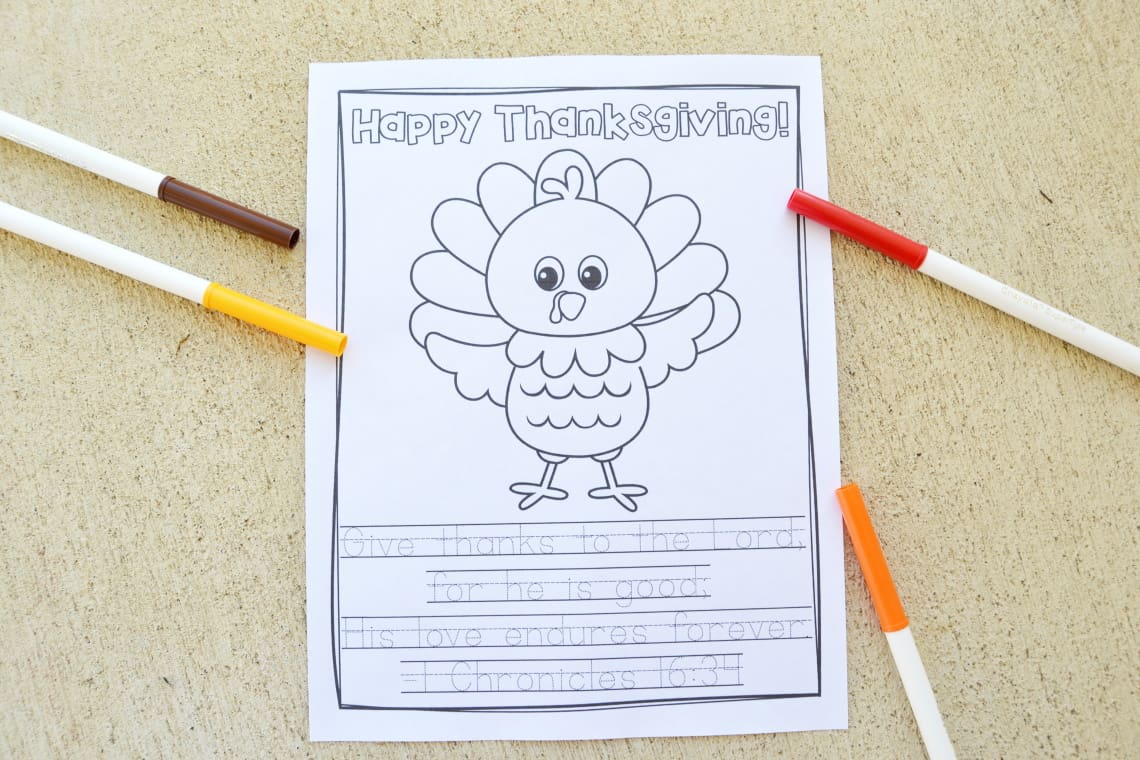 Give Thanks to the Lord coloring printable