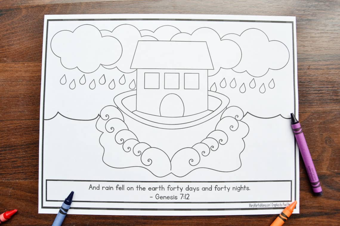 the rain coloring page