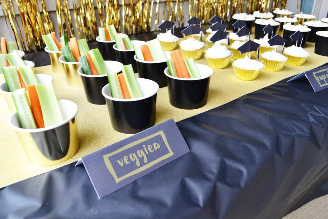 DIY Graduation Party Decorations- food labels