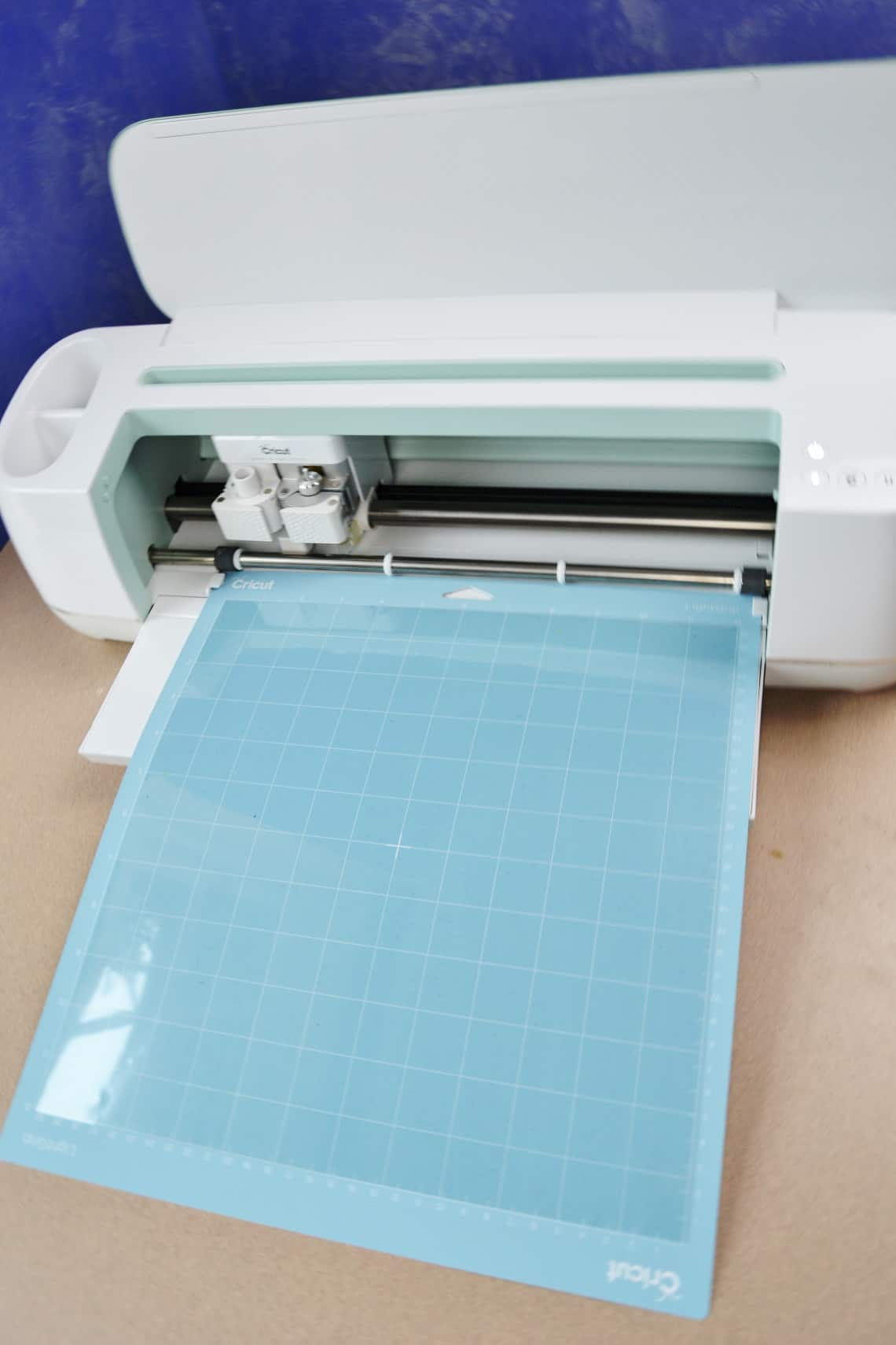 cutting the stencil out with the Cricut Maker 3