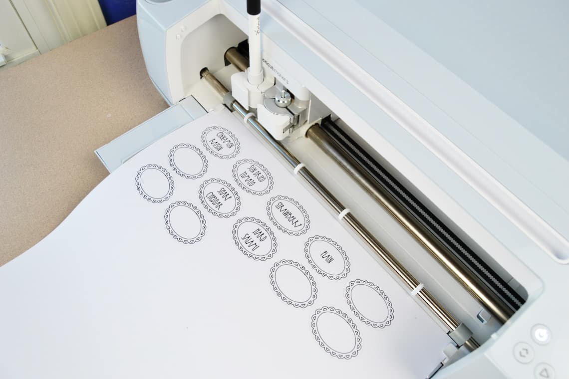 Making the labels with the Cricut Maker